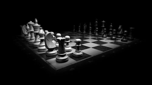 Strategie problemi asta, una partita di scacchi per rappresentarle.