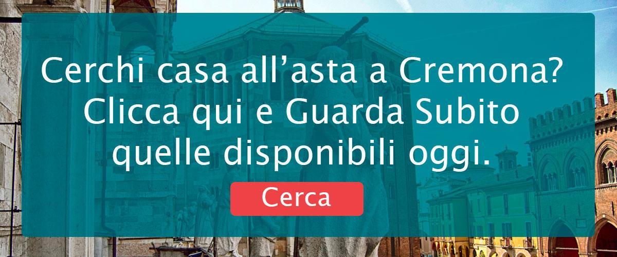 Banner di ricerca per vedere le Case in Asta a Cremona.