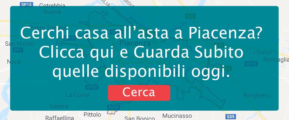Banner di ricerca per vedere le Case in Asta a Piacenza.