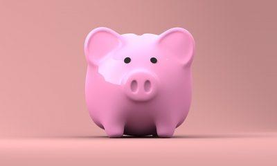 Un salvadanaio porcellino rosa per rappresentare simpaticamente una banca affidabile.